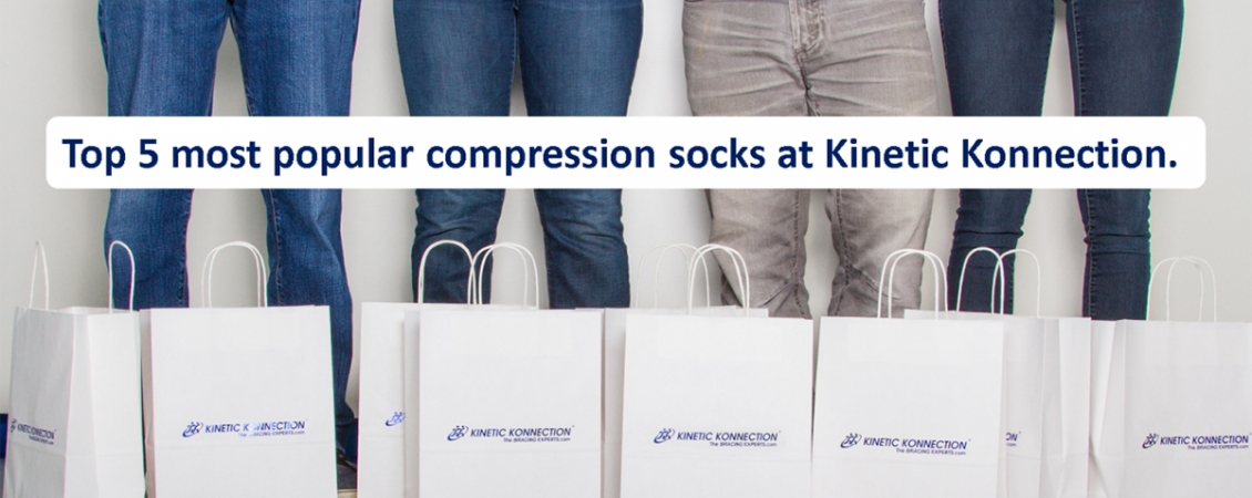 Top 5 most popular compression socks at Kinetic Konnection